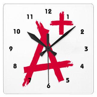 A Grade of A Plus Square Wall Clock