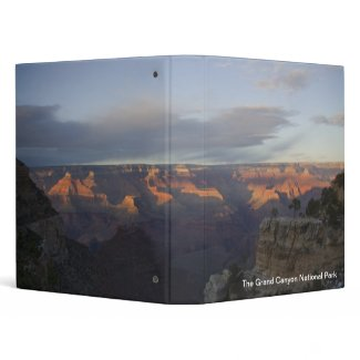 A Grand Canyon Sunset 3 Ring Binders