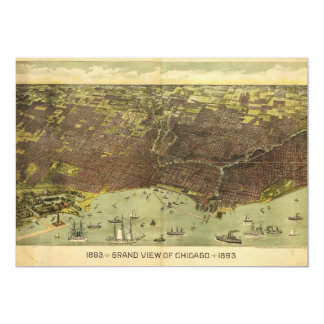 A Grand View of Chicago, Illinois (1893) Card