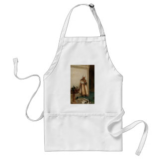 A Grand White Enuch Watching Doves by Jean Vibert Aprons