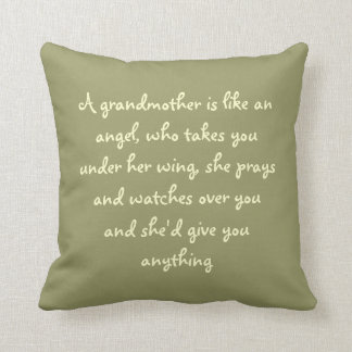 A grandma is like an angel throw pillow