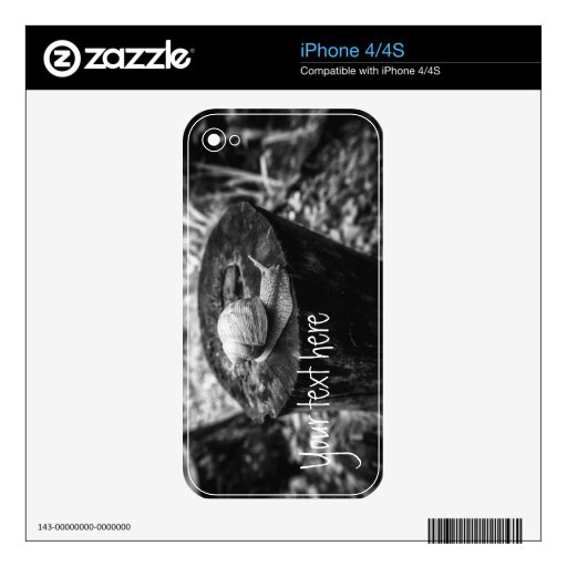 A Grape Snail on a Rotten Stump. Add text. Decal For iPhone 4