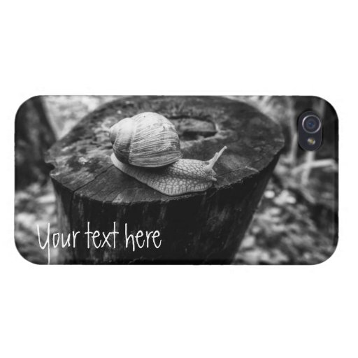 A Grape Snail on a Rotten Stump. Add text. Case For iPhone 4
