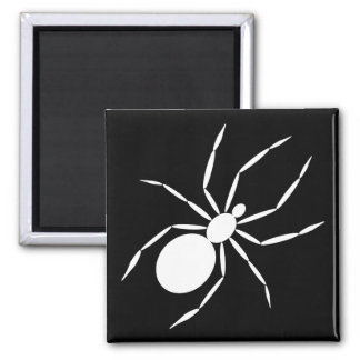 A Graphic of a Spider 2 Inch Square Magnet