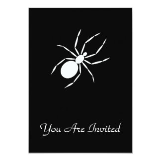 """A Graphic of a Spider 5"""" X 7"""" Invitation Card"""