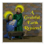 A Grateful Earth Rejoices Poster