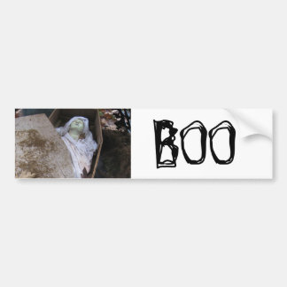 A Grave Ghoul on Halloween - photograph Car Bumper Sticker
