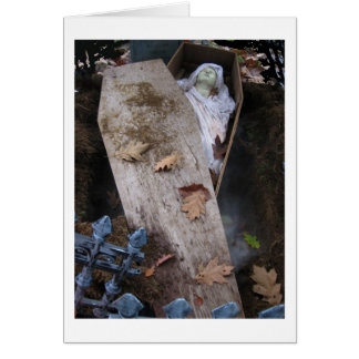 A Grave Ghoul on Halloween - photograph Card