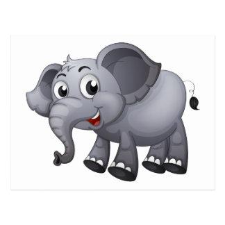 A gray elephant postcard
