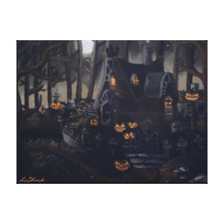 A Gray Halloween Night Canvas Print