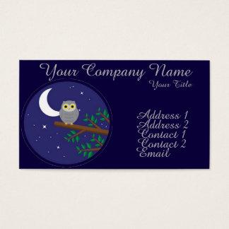 A Gray Owl Business Card