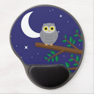 A Gray Owl Gel Mouse Pad