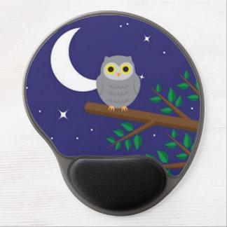 A Gray Owl Gel Mouse Mat