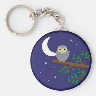A Gray Owl Keychain