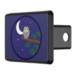 A Gray Owl Trailer Hitch Covers