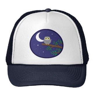 A Gray Owl Trucker Hat