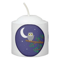 A Gray Owl Votive Candle