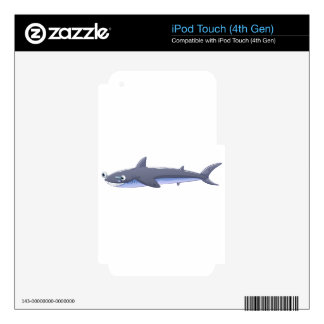 A gray shark iPod touch 4G skins