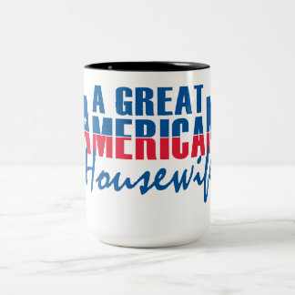 a great american housewife Two-Tone coffee mug