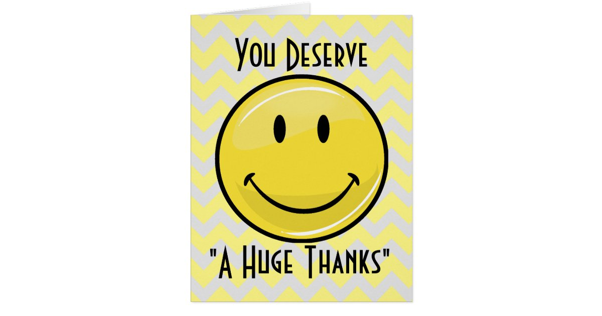 A great big smile giant thank you card zazzle