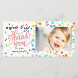 """a great big thank you happy sprinkles<br><div class=""""desc"""">thank you photocard</div>"""