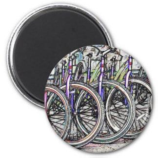 A great bike design 2 inch round magnet