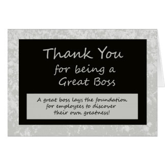 A Great Boss Bosses Day Card