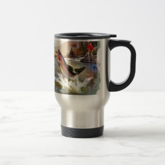 A great catch 15 oz stainless steel travel mug