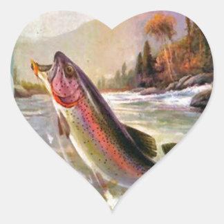 A great catch heart sticker