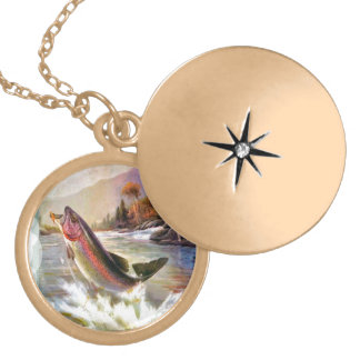 A great catch necklace, gold finish gold plated necklace