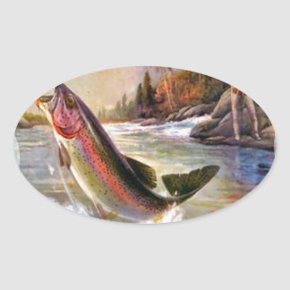 A great catch oval sticker