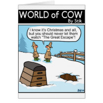 A Great Cow Escape Card