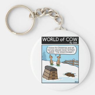 A Great Cow Escape Keychain