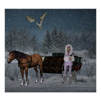 A Great Day for a Sleigh Ride Poster