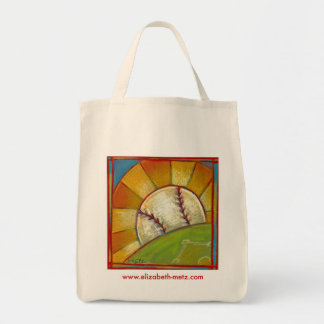 """A Great Day for Baseball"" tote bag"
