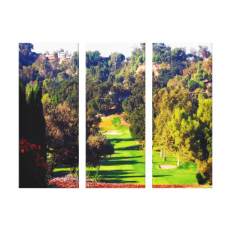 A Great Day for Golf Gallery Wrapped Canvas Print