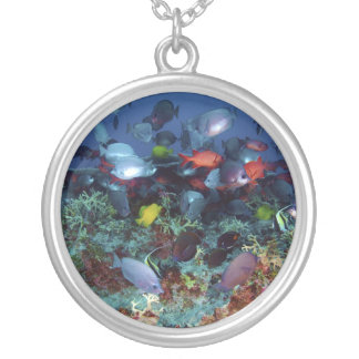 A Great Diversity of Fish at Pearl & Hermes Atoll Personalized Necklace