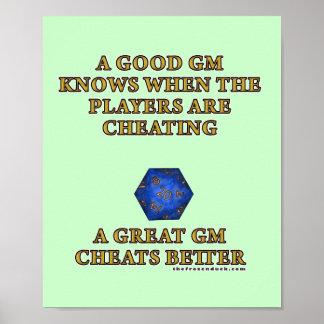 A Great DM Cheats Better Poster