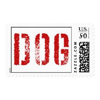 A great dog design of dog pulling owner. postage