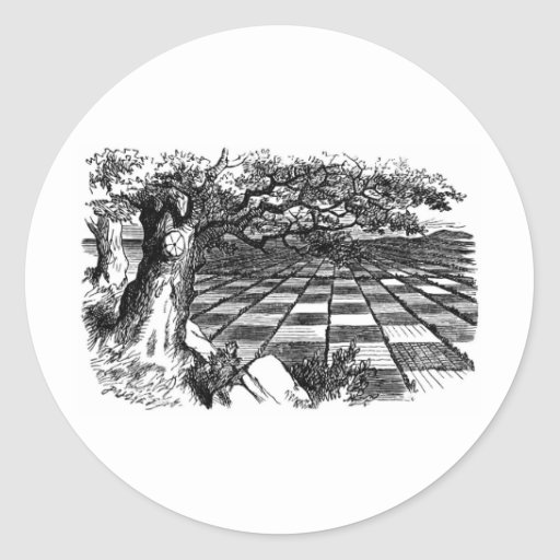 A Great Huge Game of Chess Round Sticker