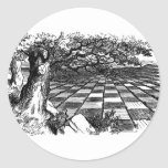 A Great Huge Game of Chess Round Stickers