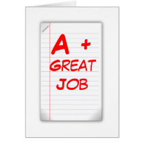 A  Great Job (Greeting Card) Card