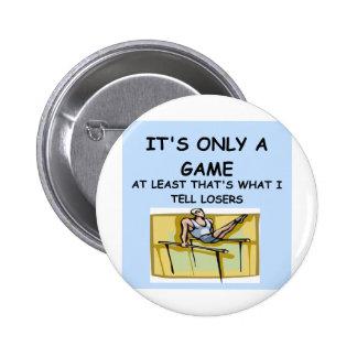 a great joke about winning! pinback button