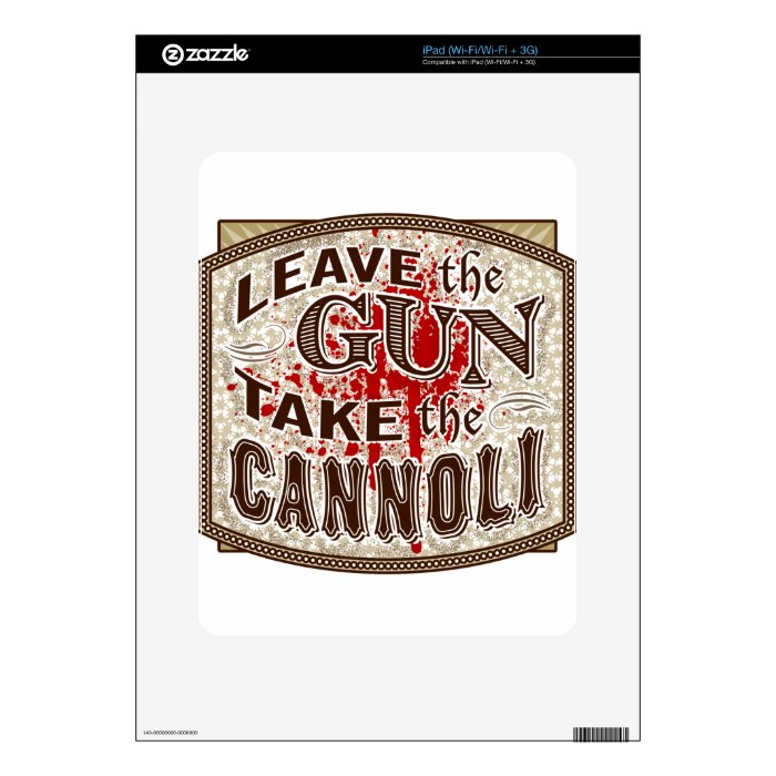 A great line from Godfather 2 Skin For iPad