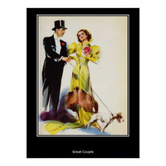 A Great Looking Couple Vintage Retro Poster