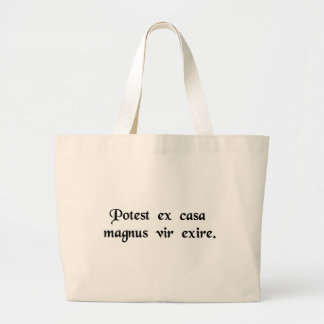 A great man can come from a hut. tote bags