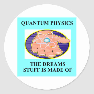 A Great Physics Design Classic Round Sticker