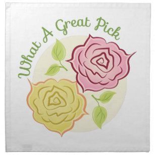 A Great Pick Napkin