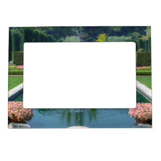 A great picture of a fountain garden. magnetic frames