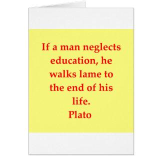A great Plato quote Card
